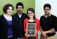 Dr. Nateghi and grad students who nominated her