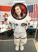 Jocelyn Dunn in spacesuit