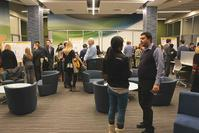 Faculty, students and staff attended the poster exhibition