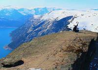 Ishan Sharma atop Trolltunga Rock, Norway