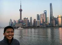 Scott Wong with from the Bund in Shanghai, China