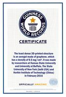 Photo of GUINNESS WORLD RECORDS certificate