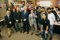 Photo of Argentine Consul General, his team and ISAT Lab members