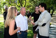 Photo of Pres. Daniels w/Honor Pledge team members
