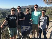 Photo of IE 431 senior design students in CA