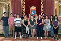 Photos of IE 490 students visiting Pamplona City Council