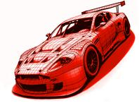 Photo of 3D printed car