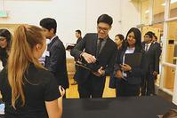 Photo of IE Career Fair check-in