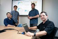 Photo of Purdue connectomics researchers Joaquin Goni, Mario Ventresca, & others
