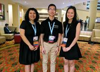 Photo of Isis Chong, Yuhao (Frank) Peng, and Jackie Cha