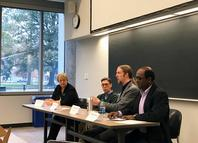 Photo of David Johnson on panel discussion