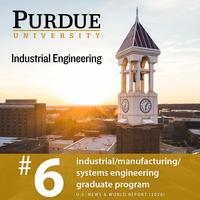 Graphic of Purdue IE No. 6 USNWR ranking