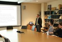Photo of Dr. C. R. Liu delivering colloquium