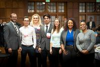 Photo of Pat Brunese & IE grad students