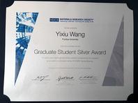 Photo of Wang's certificate