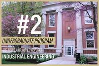 Purdue IE undergraduate program ranked #2 by US News and World Reports (on top of backdrop of Grissom Hall, home to Purdue Industrial Engineering)