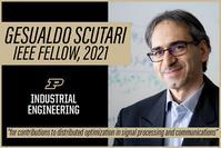 Gesualdo Scutari has been elevated to IEEE Fellow, 2021