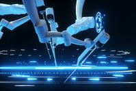 Robot surgeon, robotic equipment. Minimally invasive surgical innovation with three-dimensional overview.
