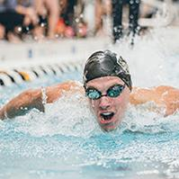 Kal Findley, Swimmer and IE sophomore, named to All Academic Big-Ten