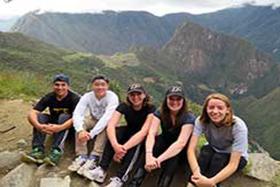 Photo of Purdue students in Peru