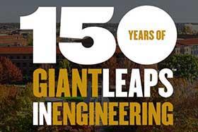 Logo of Purdue 150 Giant Leaps