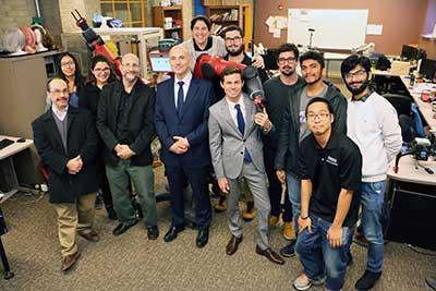 Photo of Argentine Consul Visit to ISAT Lab