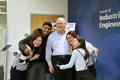 Photo of Wayne Ewbank & grad students