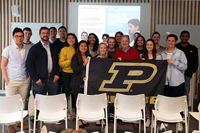 Photo of Purdue students in Pamplona
