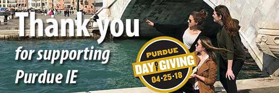 Purdue Day of Giving thank you