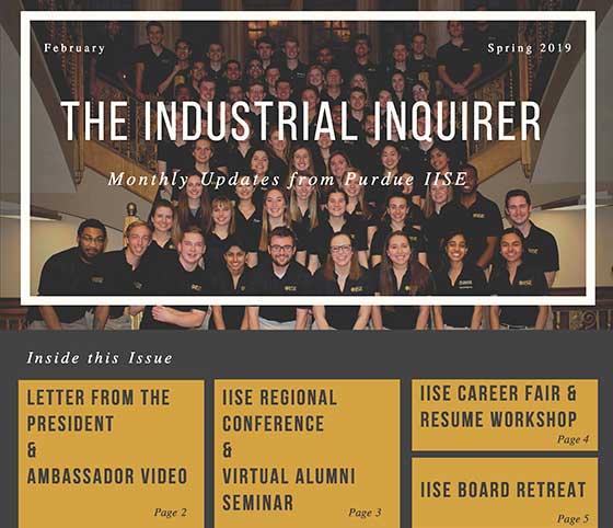 February 2019 IISE Newsletter cover