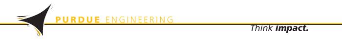 Purdue Engineering Logo; Think Impact