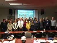 Pictured are students, faculty, and INDOT engineers
