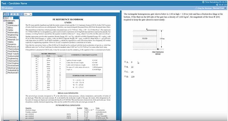Fundamentals of Engineering Exam - Mechanical Engineering