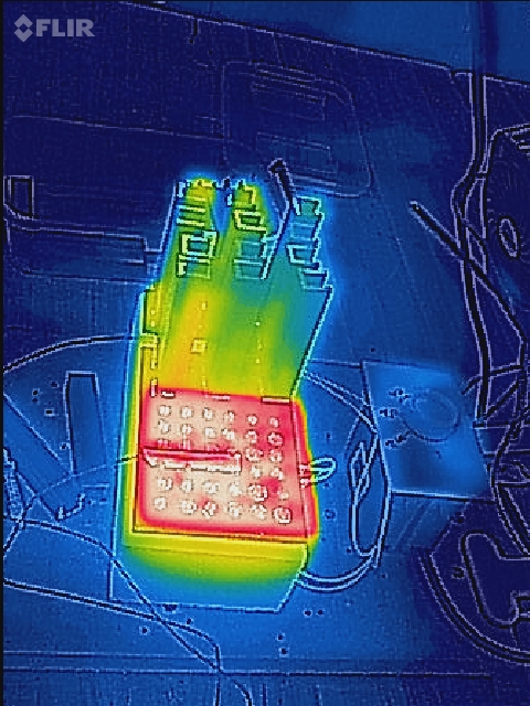 Thermal Image of a heat sink