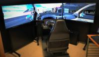 Photo of Pitts' lab driving simulator.