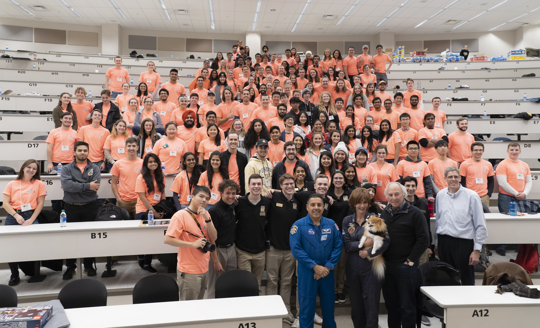 Purdue Space Day 2019 Volunteer Crew Photo