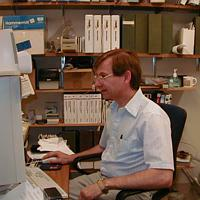 Gordon Skiles at work