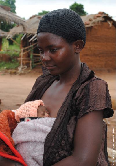 Photo of African mother & Kangaroo Mother Care