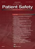 Cover of Journal of Patient Safety