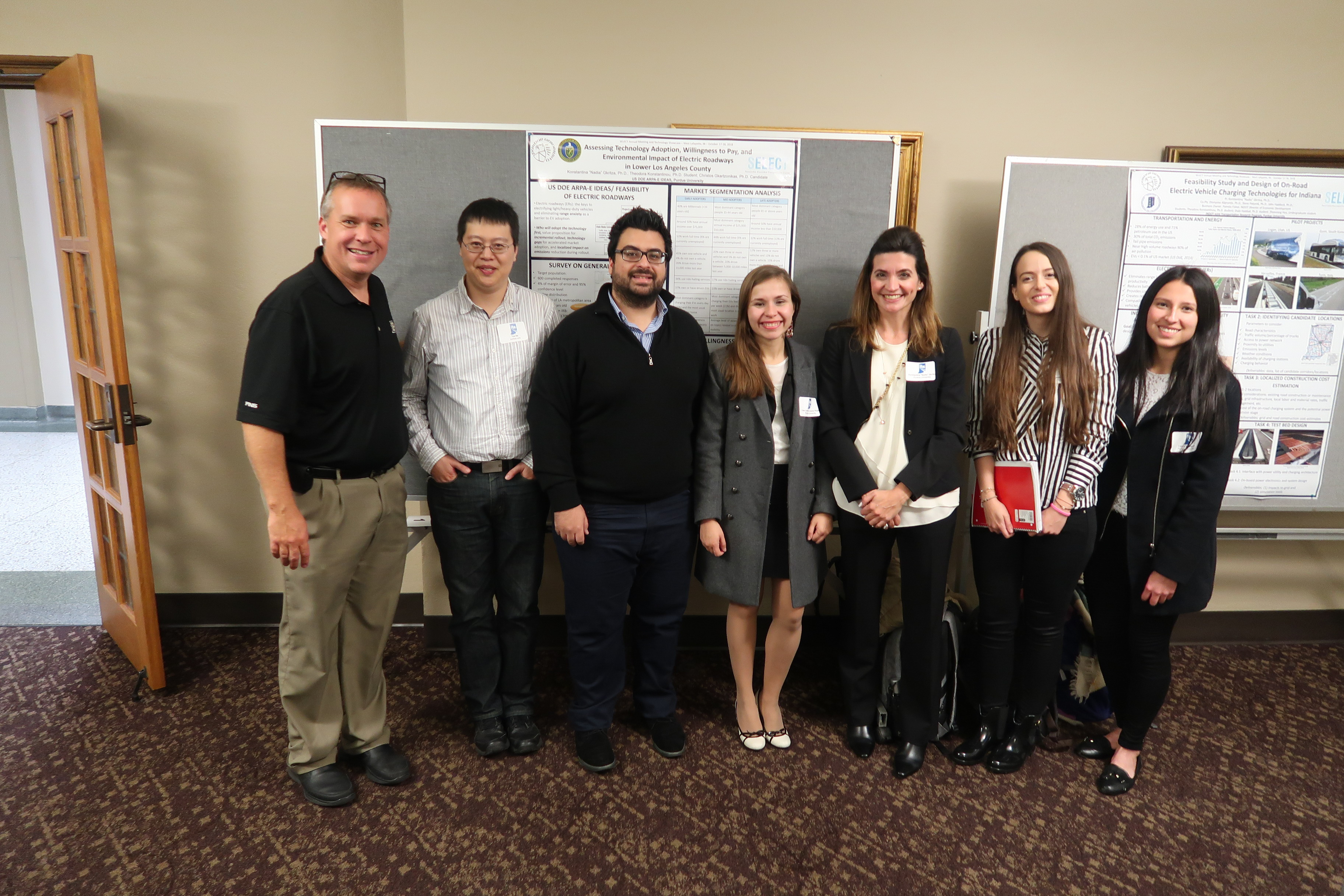 STSRG at the ITE Student dinner and poster session at Purdue