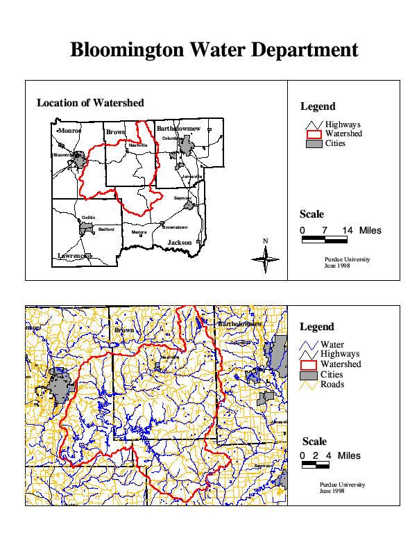 Source water maps for Environmental management bureau region 13