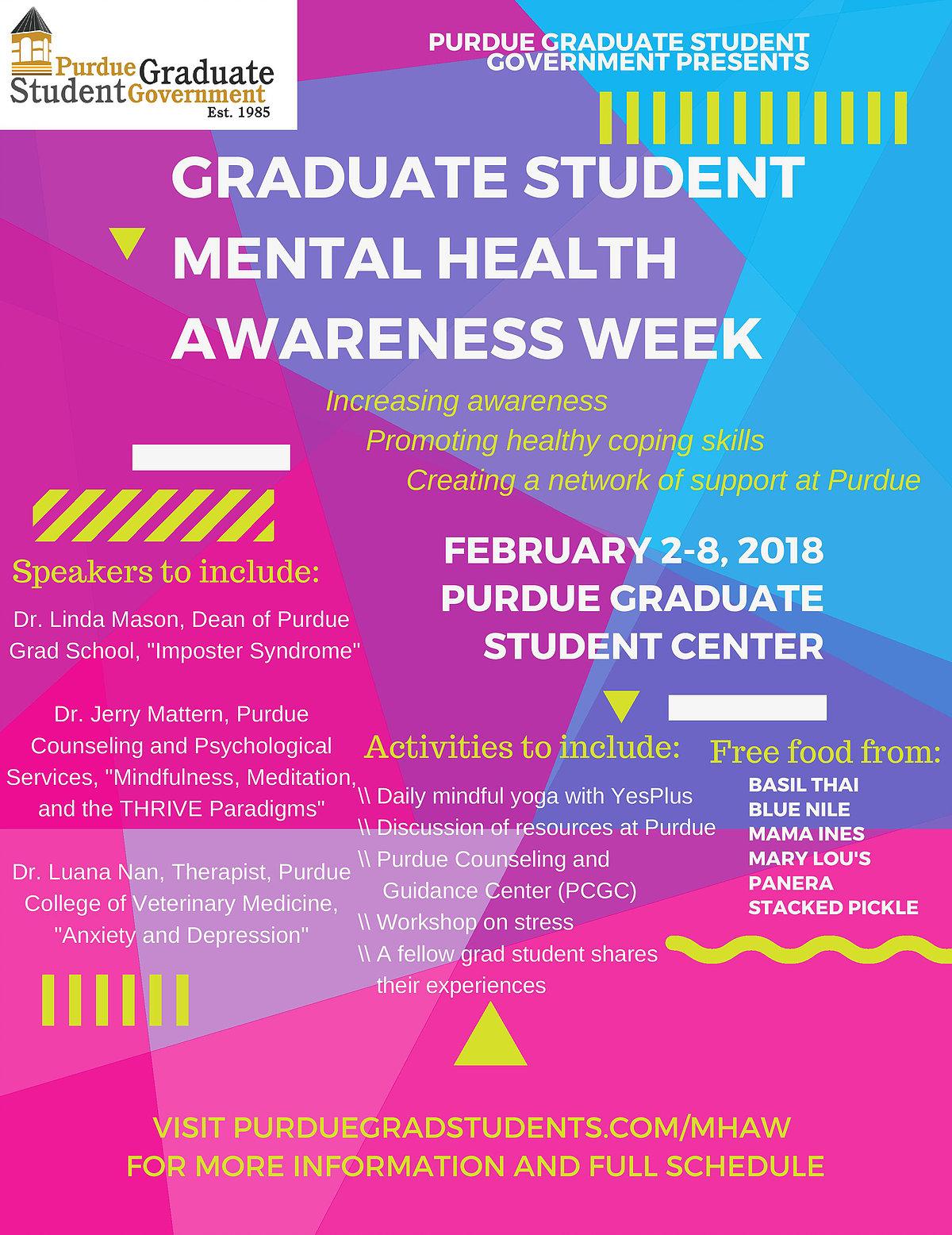 Graduate Student Mental Health Awareness Week