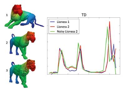 Temperature Distribution Descriptor for Robust 3D Shape Retrieval