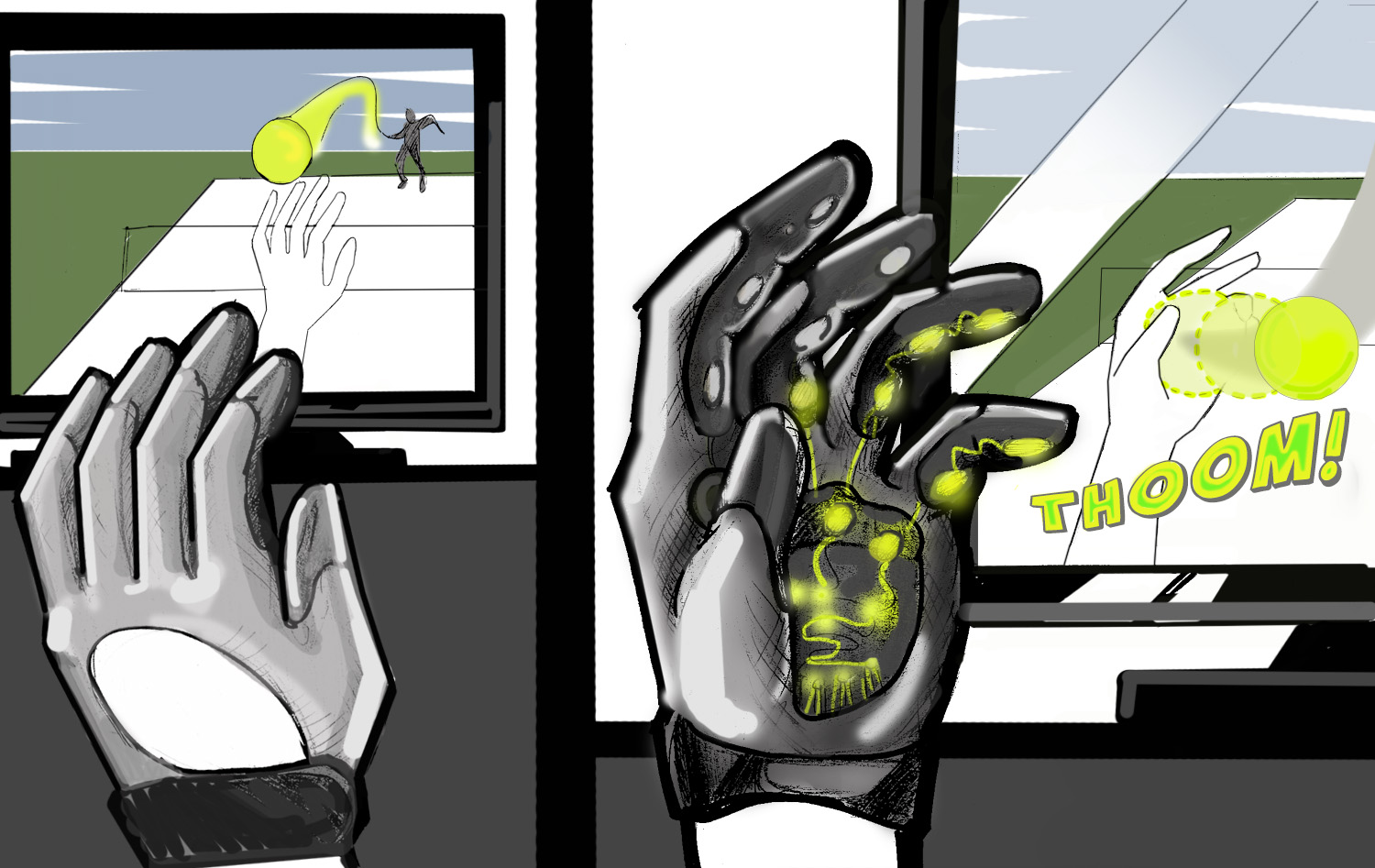 ACTIVE-Hand: Automatic Configurable Tactile Interaction in Virtual Environment