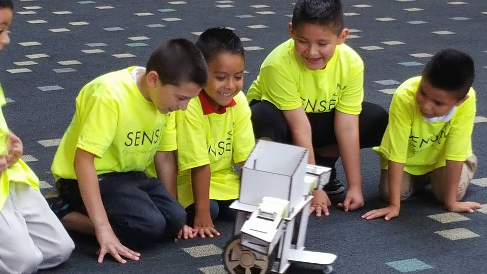 Ziro meets with children at The Children's Museum of Indianapolis
