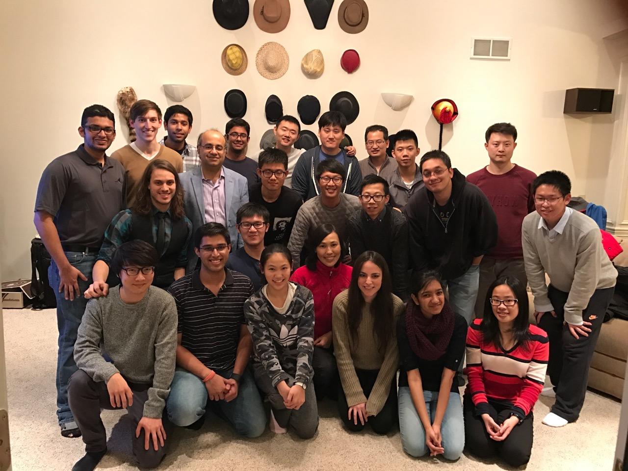 C-Design group photo at Prof. Ramani's home