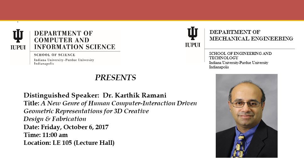 Prof. Ramani gives a Distinguished lecture at IUPUI