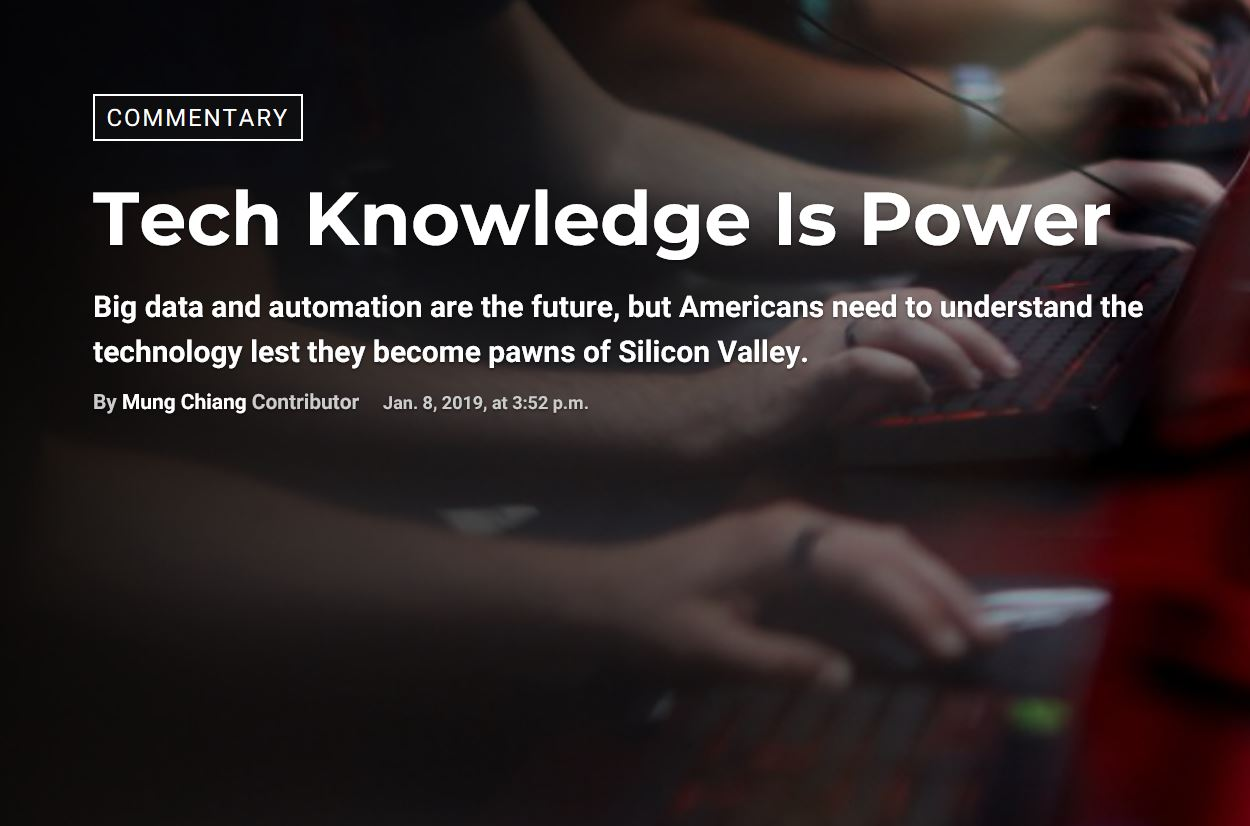 Tech Knowledge Is Power – by Mung Chiang, Dean of the College of Engineering at Purdue University