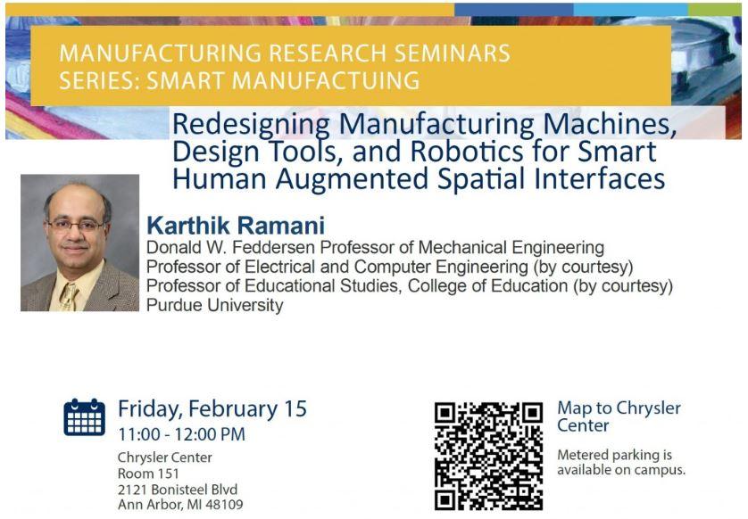 Manufacturing Research Seminar Series – Smart Manufacturing February 15
