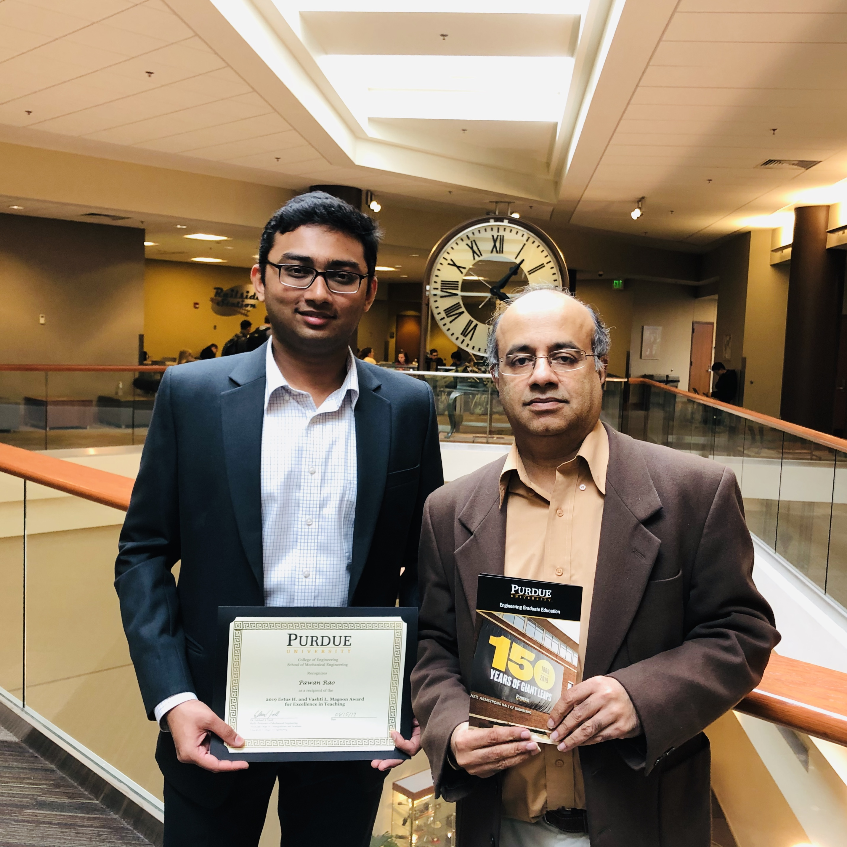 Congratulations to Pawan Rao for receiving the 2019 Estus H. and Vashti L. Magoon Award